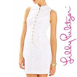 Lilly Pulitzer size 2 Alexa shift dress white lace
